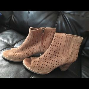 Toms peep toe bootie with wedge